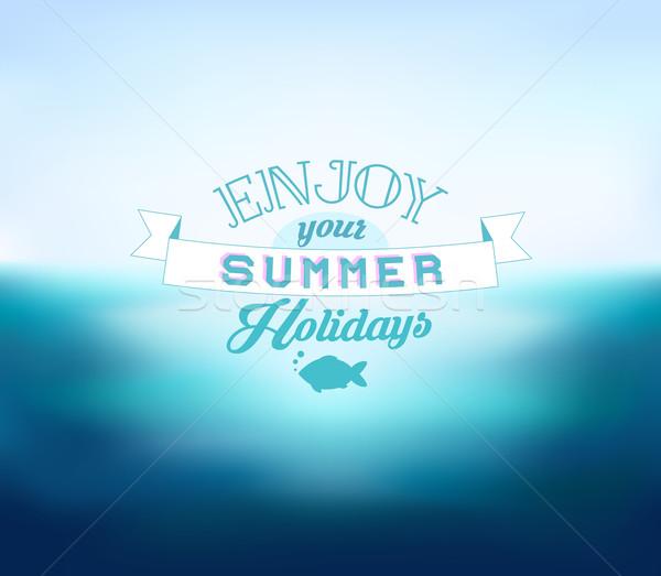 Vektör bulanık deniz tadını çıkarmak yaz tatil Stok fotoğraf © MarySan