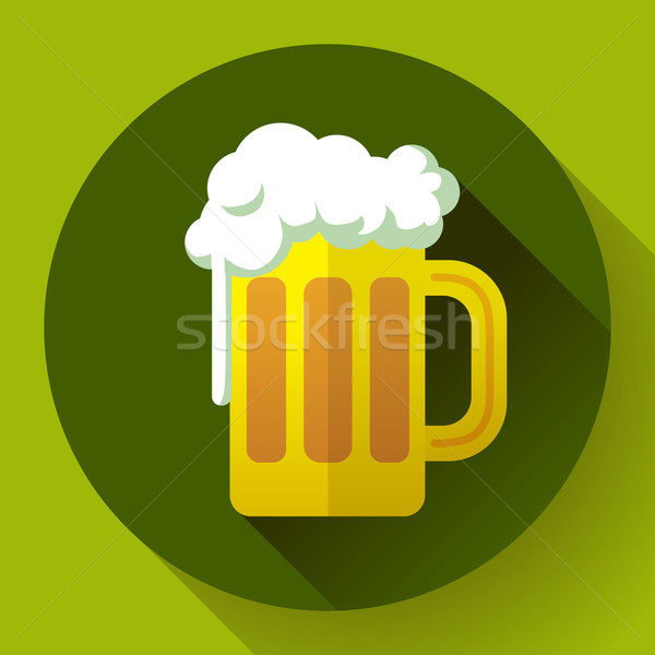 Irish ginger beer St. Patricks day symbol vector icon. Flat designed style Stock photo © MarySan