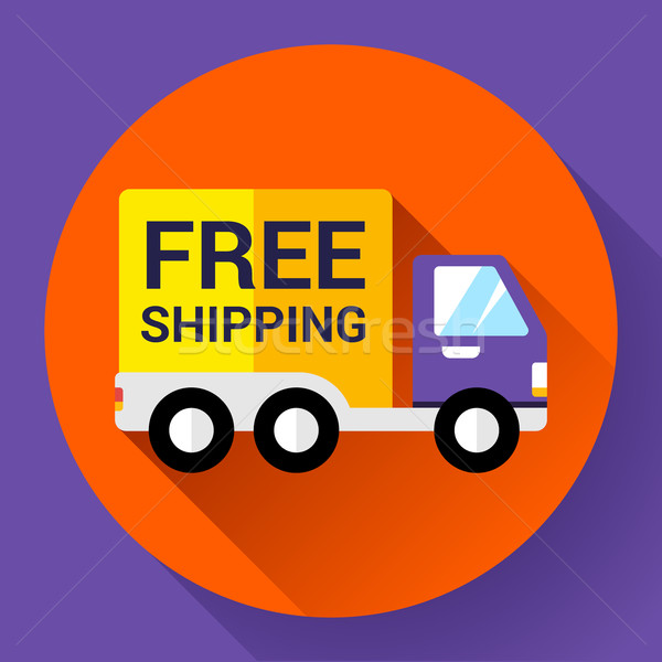 Car Shipping icon. Fast and free delivery concept. Stock photo © MarySan
