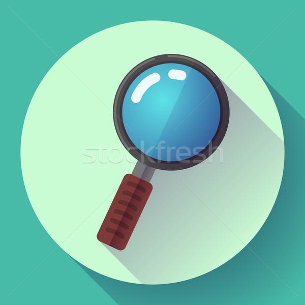 Wektora lupą wyszukiwania ikona projektu stylu Zdjęcia stock © MarySan