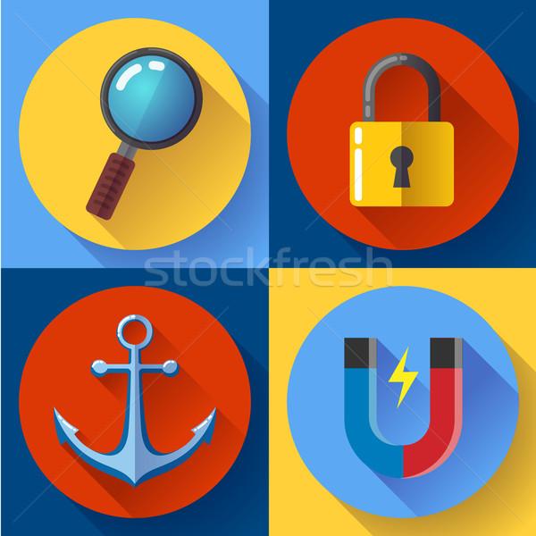 Marketing internetowy projektu stylu Internetu sieci Zdjęcia stock © MarySan