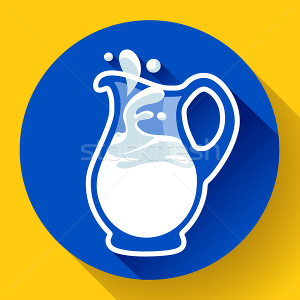 üveg tejesflakon csobbanás friss tej étel Stock fotó © MarySan
