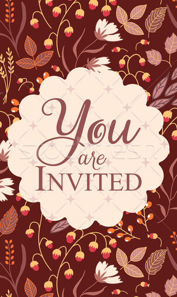 Invitation card, with sign You are invited Stock photo © MarySan