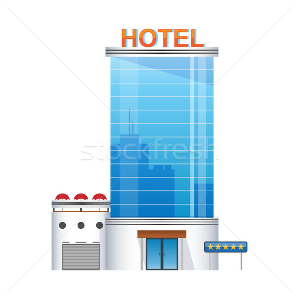 five-star hotel building 3d icon Stock photo © MarySan