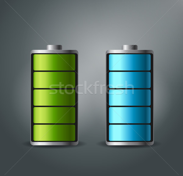 Fully charged battery smartphone - vector illustration. Stock photo © MarySan