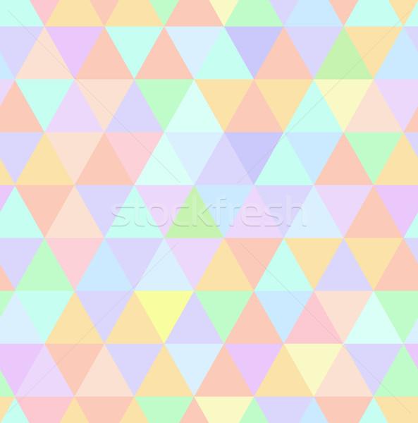 Naadloos retro patroon meetkundig pastel mozaiek Stockfoto © MarySan