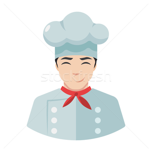 Smiling chef cook icon in hat Stock photo © MarySan