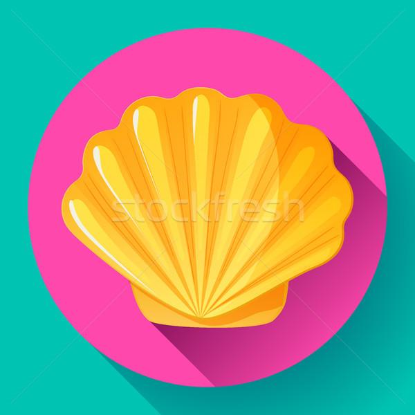 Or mer shell vecteur logo fruits de mer Photo stock © MarySan