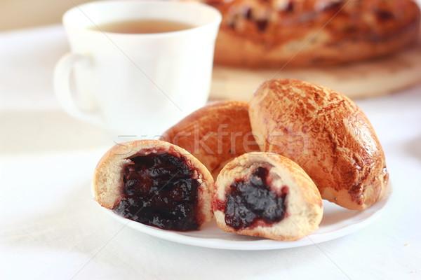 pastry with plum Stock photo © MarySan