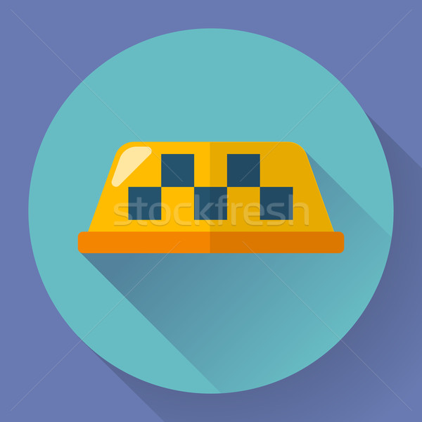Stock photo: Taxi icon, vector illustration. Flat designed style
