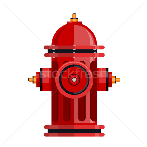 Red fire hydrant icon isolated on white vector Stock photo © MarySan