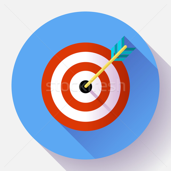 Target Marketing Icon Pijl Symbool Vector Vector