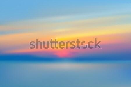 Панорама закат морем океана воды солнце Сток-фото © MarySan