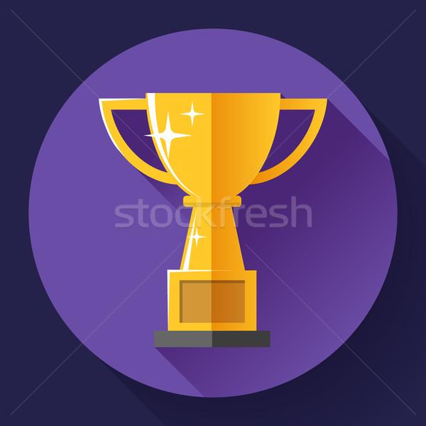 Goud beker overwinning symbool stijl ontwerp Stockfoto © MarySan