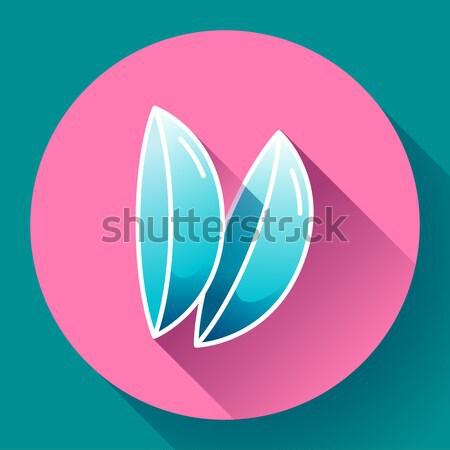 Kettő kontaktlencsék ikon terv stílus víz Stock fotó © MarySan
