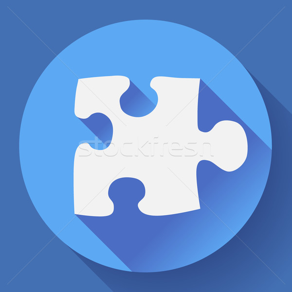 Puzzle icon. Flat vector design style. Stock photo © MarySan