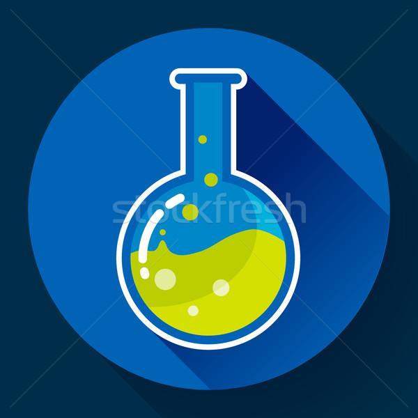 Vegyi labor flaska folyadék ikon terv Stock fotó © MarySan