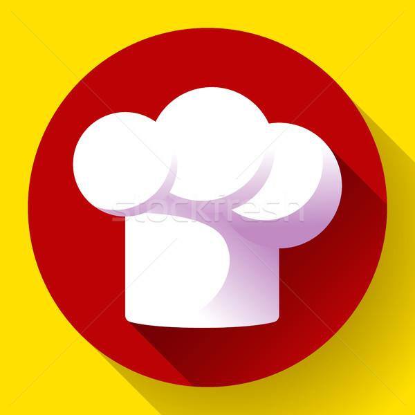 Merő fehér étterem szakács sapka divat konyha Stock fotó © MarySan