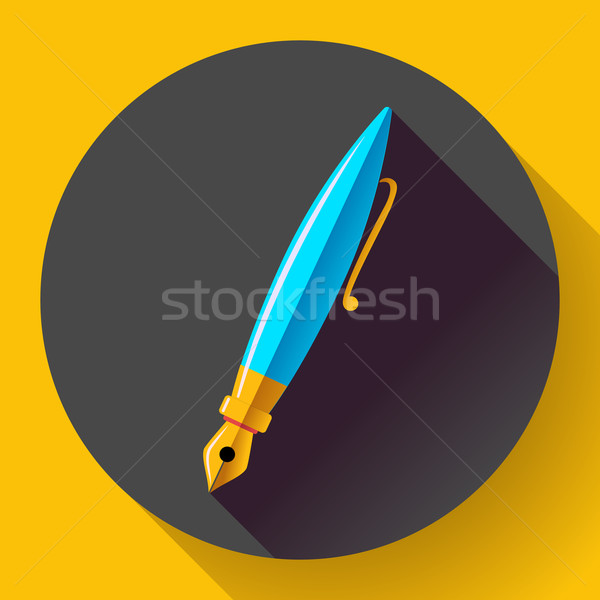 Fountain pen - vector icon, flat design Stock photo © MarySan