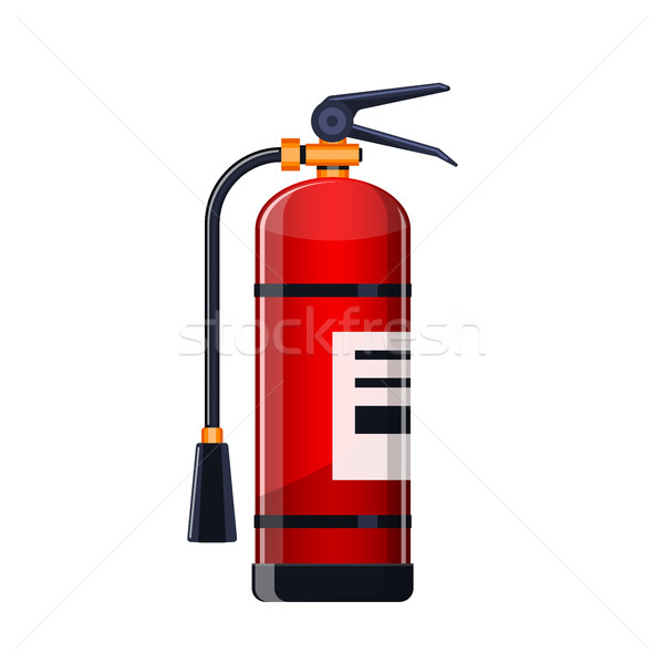Realistic Fire extinguisher icon isolated on white. Stock photo © MarySan