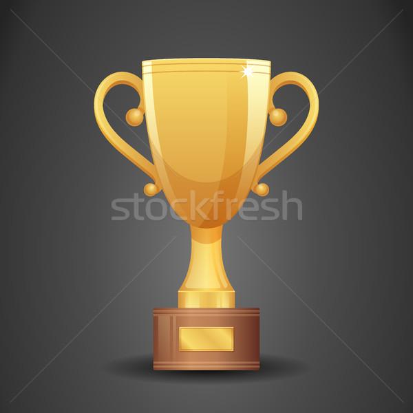 Ouro copo vitória símbolo ícone esportes Foto stock © MarySan