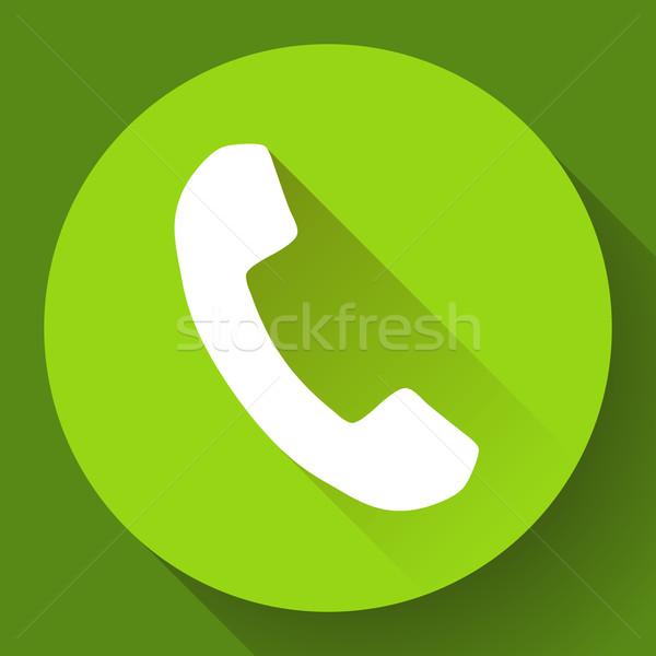 Incoming Phone Call vector Icon Stock photo © MarySan