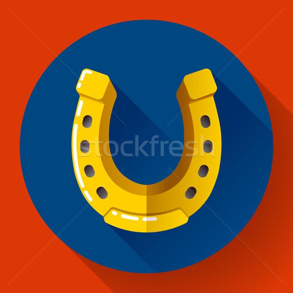 Vector dorado herradura icono diseno estilo Foto stock © MarySan