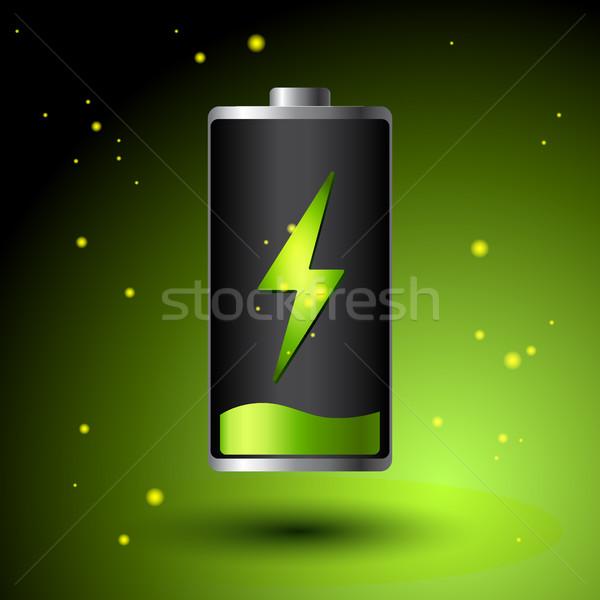 Green Battery charging - Alternative Eco Energy Concept. Stock photo © MarySan