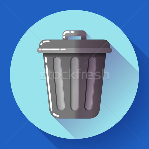 Cesto de lixo ícone reciclar lixo projeto Foto stock © MarySan