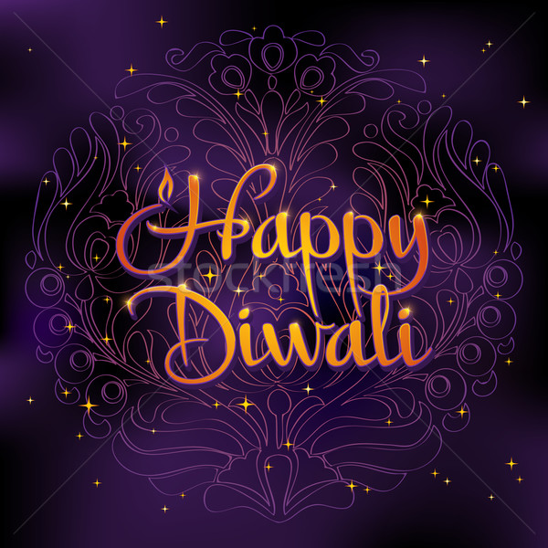 Beautiful greeting card for Hindu community. Happy diwali festival background illustration. Stock photo © MarySan