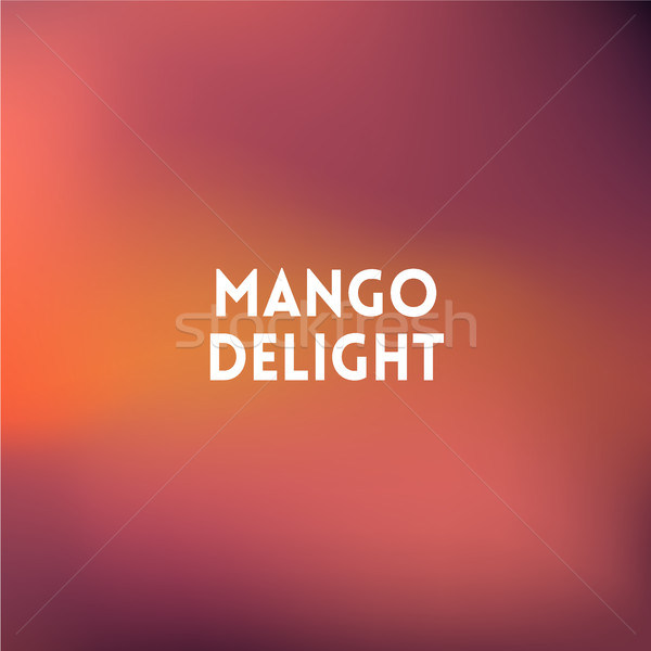 Kare bulanık şeftali renkler aktarmak mango Stok fotoğraf © MarySan