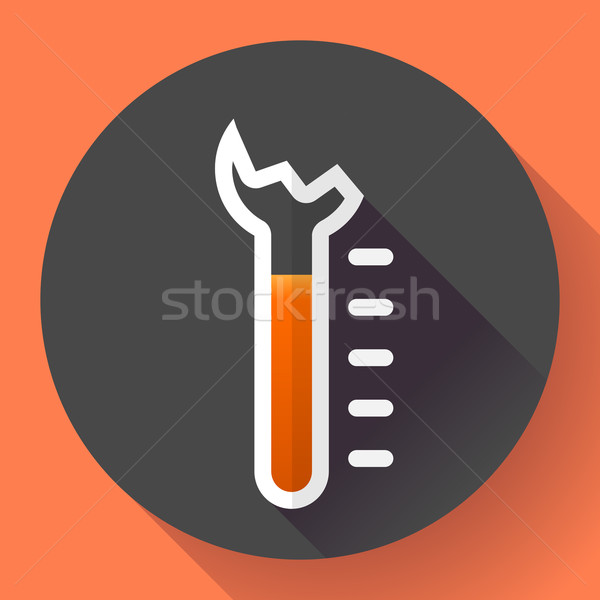 Broken Thermometer icon, temperature symbol vector. Flat designed style.  Stock photo © MarySan