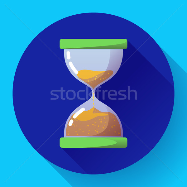old vintage hourglass icon flat vector - time symbol Stock photo © MarySan