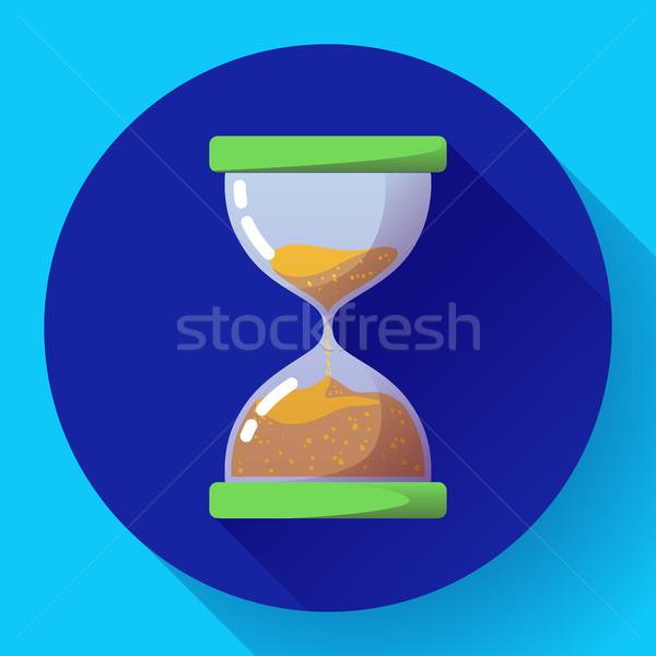 Eski bağbozumu kum saati ikon vektör zaman Stok fotoğraf © MarySan