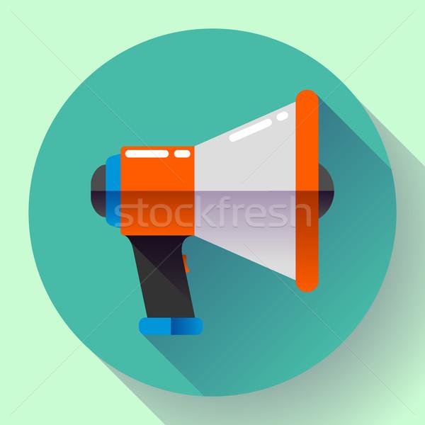 Megafon ikona wektora wirusowy obrotu projektu Zdjęcia stock © MarySan