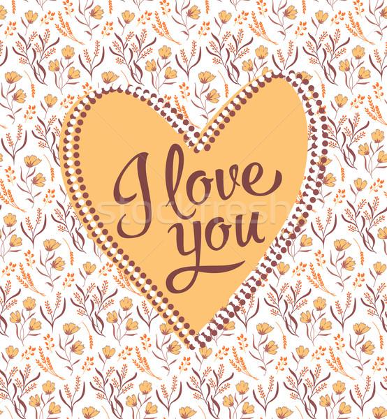 valentine I Love You Vector Lettering stylish text Stock photo © MarySan