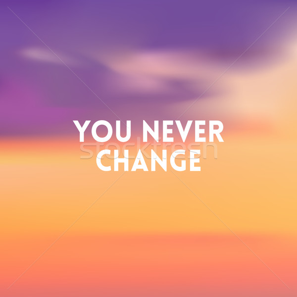square blurred background - sunset colors With motivating quote Stock photo © MarySan