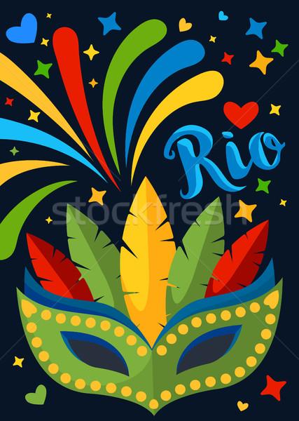 ブラジル カーニバル プラカード ポスター チラシ バナー ストックフォト © MarySan
