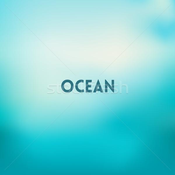 Vierkante wazig hemel water zee kleuren Stockfoto © MarySan