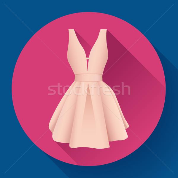 Сток-фото: женщину · платье · икона · вектора · вечер · девушки