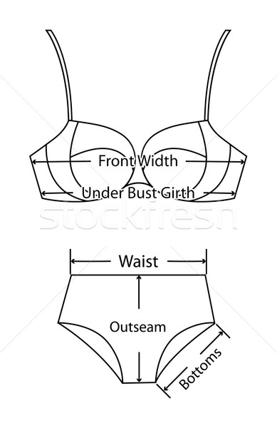 Rozmiar kobiet bielizna tekst Zdjęcia stock © MarySan