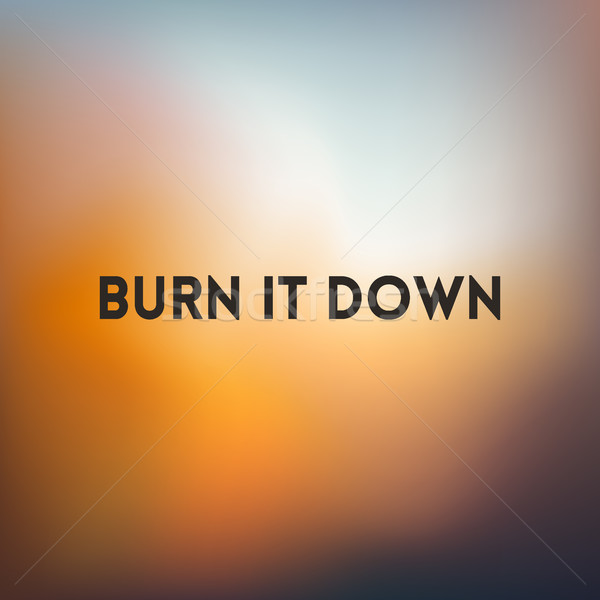square blurred golden background sunset colors With motivating quote vector illustration ...