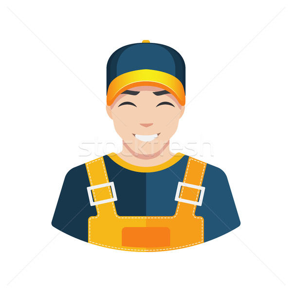 Flat Warehouse and delivery or building worker icon vector avatar Stock photo © MarySan