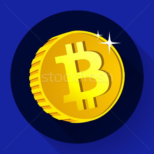 Bitcoinの 金貨 シンボル 通貨 アイコン インターネット ストックフォト © MarySan