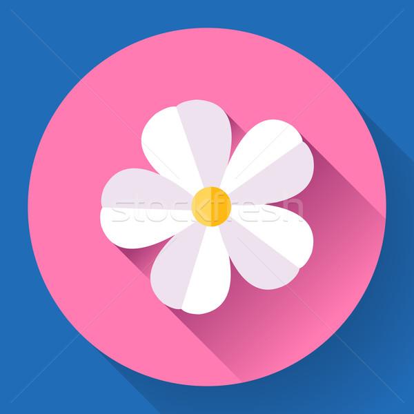 Frangipani flower icon. Nature symbol - Vector Stock photo © MarySan