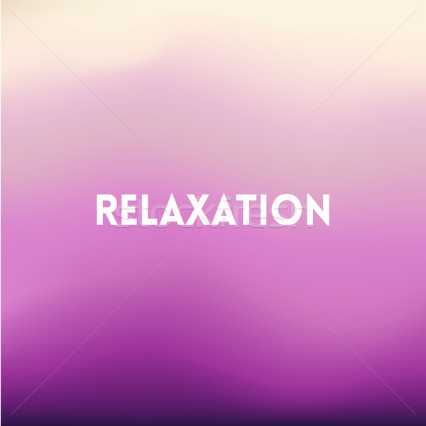 square blurred lilac background - sunset colors With motivating quote Stock photo © MarySan