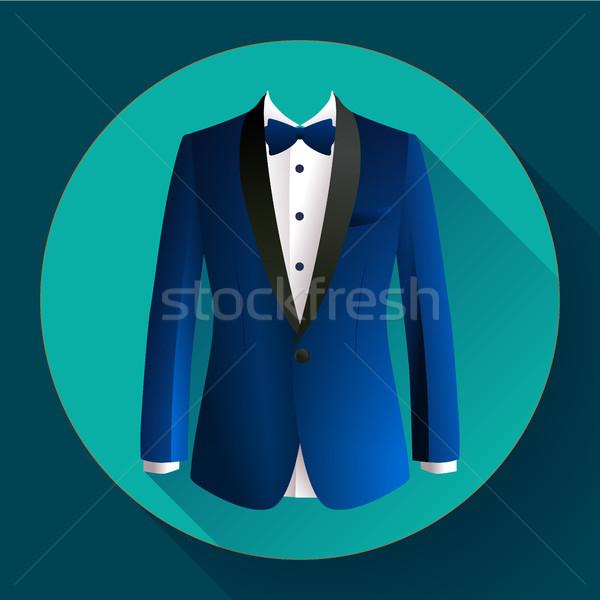 c87d4ab202 Sötét · kék · férfi · öltöny · vektor · ikon - vektorgrafika ...