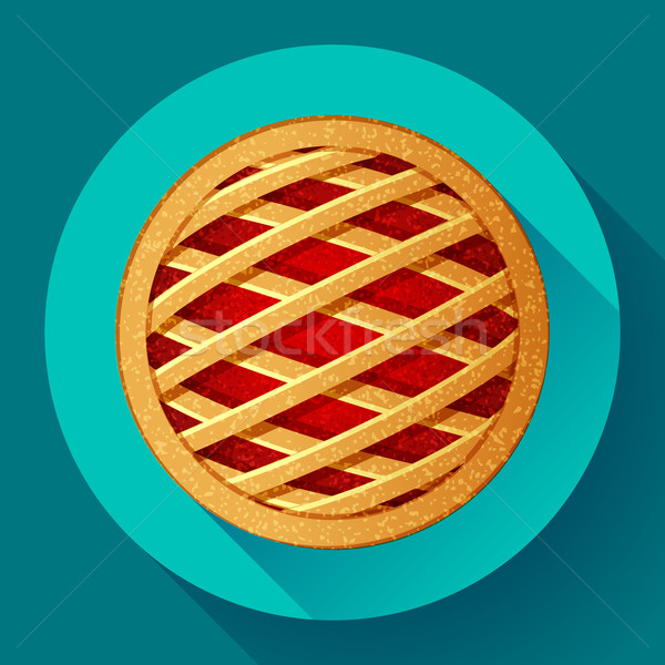 Apple Pie vector icon Flat designed style Stock photo © MarySan