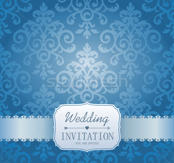 Ornate damask background. Invitation to the wedding Stock photo © MarySan