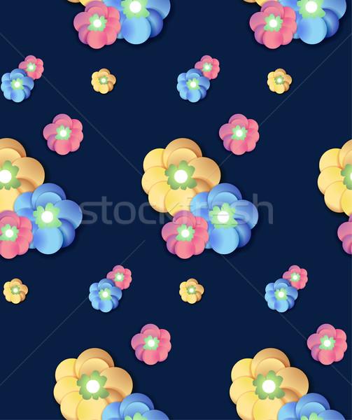 Renkli çiçek baskı çiçek deseni Stok fotoğraf © MarySan